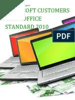 Microsoft Customers using Office Standard 2010 - Sales Intelligence™ Report