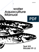 Freshwater Aquaculture Test Kit Manual, Model FF-2, Kit 2430-01