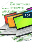 Microsoft Customers using Office Web Applications A (User SL) - Sales Intelligence™ Report