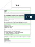 Development Biology Multiple Choice Question
