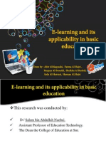 e-learning and its applicability in basic education