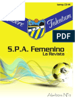 """Nª12 SPA Femenino """"La Revista"""""""