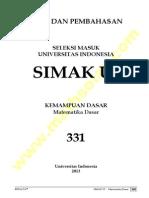 Soal Dan Pembahasan Matematika Dasar 2013