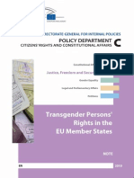 Transgender Persons Rights in the EU Member States