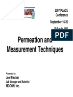 Permeation and Measurement Techniques
