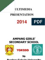 Lawatan Pelajar Jepun dari University of Bukyo Gakuin ke SMK Puteri AMpang, KL 2014
