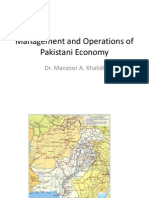 MAPS Management and Operations of Pakistani Economy