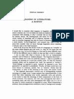 Tzvetan Todorov -- Meaning in Literature- A Survey