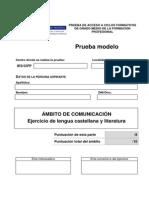Prueba Modelo Lenguacastellana 2014