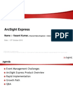 ArcSight Express - Technical Presentation