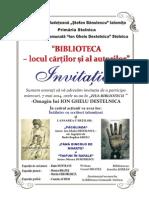 Invitatie Stelnica 2014 - ZIUA BIBLIOTECII