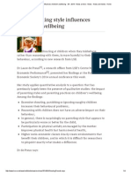 How Parenting Style Influences Children's Wellbeing - 04 - 2014 - News Archive - News - News and Media - Home