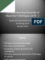 The Slow Burning Genocide of Myanmar Rohingya