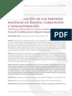 La Financiación de Los Partidos Políticos en España- Corrupción y Deslegitimación