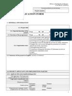 2012 Project Applicationform