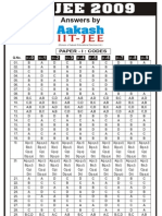 File IIT JEE 2009 Paper I Answers Solutions