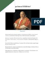 Cine a Fost Papa Ioan Al XXIII-lea