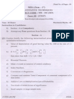 (Www.entrance-exam.net)-PTU MBA Quantitative Techniques Sample Paper 2