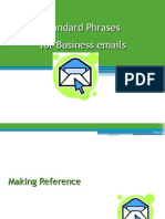 Standard Phrases for Business Emails