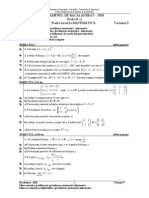 Varianta Mate Info 2010