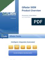 QRadar SIEM Product Overview Presentation