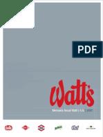 Watts Memoria 2007
