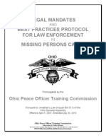 Legal Mandates and Best Practices Protocol For Law Enforcement In Missing Persons Cases