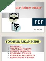 Ppt Formulir Rekam Medis