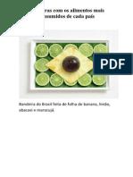 Bandeiras Com Os Alimentos Mais Consumidos de Cada País