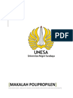 MAKALAH POLIPROPILEN