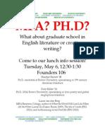 Gradschool Info Poster