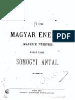 Somogyi Antal - Régi Magyar Énekek, 2. kötet 1873.