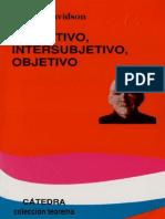 Donald Davidson - Subjetivo Objetivo Intersubjetivo