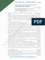 Heat & Mass Transfer December 2010 (2006 Scheme)
