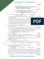 Heat & Mass Transfer December 2011 (2006 Scheme)