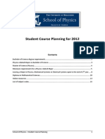 Physics Course Planning 2012