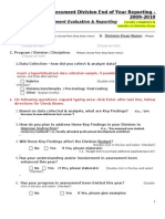 Outcomes Assessment Division End of Year Reporting (Section II)-Aka Faculty Form 2