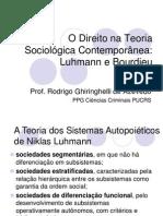 Teoria Contemporanea - Luhmann e Bourdieu