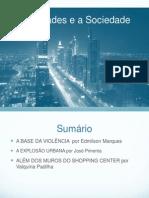 Seminário - as cidades e a sociedade