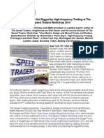 Why Stock Market Not Rigged by High-frequency Trading at The Speed Traders Workshop 2014