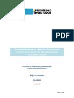 Guía Metodológica Para Registros, Observatorios, Sistemas de Seguimientos y Salas Situacionales Nacionales en Salud