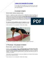 20 Exercices Pour Se Muscler Le Corps