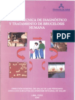 Norma Tecnica Del Diagnostico y Tratamiento de La Brucelosis