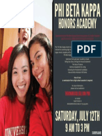 PBK Honors Academy Flyer 2014