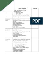 Jadual Lawatan Sabah 2014