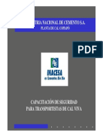 7.B Capacitacion de Seguridad Para Transportistas de Cal Viva