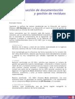 Destrucción de documentación y gestión de residuos
