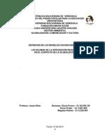 Trabajo Tema II. Definición de Los Modelos Socieconómicos
