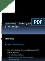 Language Techniques & Strategies