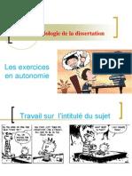 AP 9 - Exercices d'Apprentissage Sur La Dissertation en Autonomie